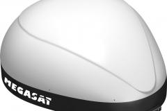Die kompakte und geschlossene Antenne von Megasat bietet beste Empfangsleistungen auch bei Wind und Wetter.
