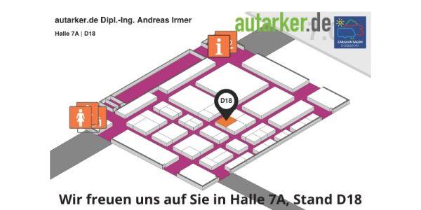 autarker.de vom 30.08.2019 bis 08.09.2019 auf dem Caravan Salon in Düsseldorf.