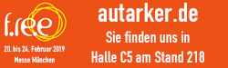 autarker.de auf der f.re.e 2019, Halle C5 Stand 218