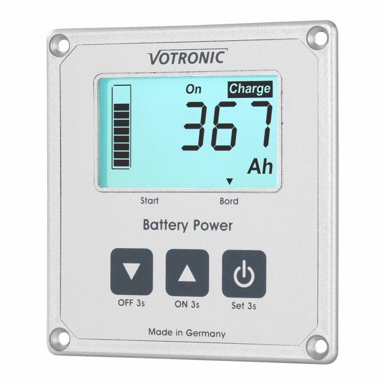 Dieser Batteriecomputer überwacht die Kapazität Ihrer Batterie und zeigt unterschiedlichste Daten dazu an.