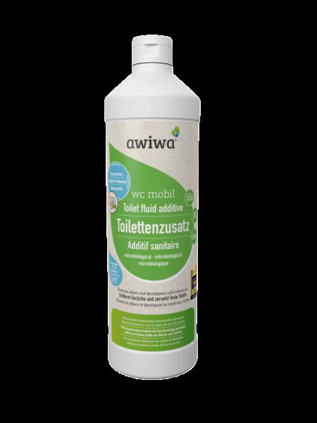 Toilettenzusatz awiwa® wc mobil – mikrobiologischer Toliettenzusatz; Preis/Liter 19,95 €