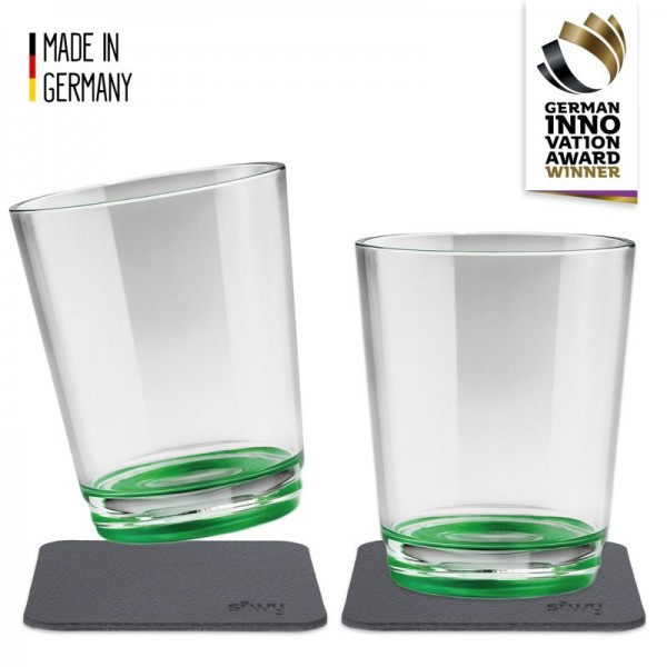silwy Magnet-Trinkbecher Sour Green 2er Set