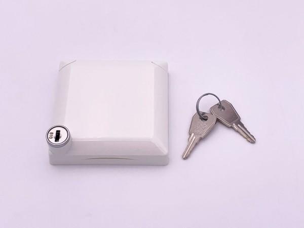 Betankungsdeckel abschließbar weiß für Außenbetankung komplett