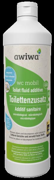 awiwa wc mobil – mikrobiologischer Toilettenzusatz für Campingtoiletten, 1000 ml