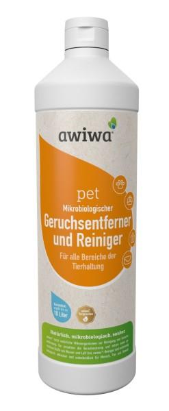 awiwa pet 1000 ml mikrobiologischer Reiniger und Geruchsentferner; Preis/Liter 14,95 €